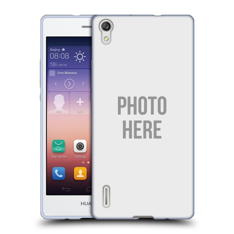 Silikonové pouzdro na mobil Huawei P7 HEAD CASE s vlastním motivem (Silikonový kryt či obal s vlastní fotografií na mobilní telefon Huawei Ascend P7)