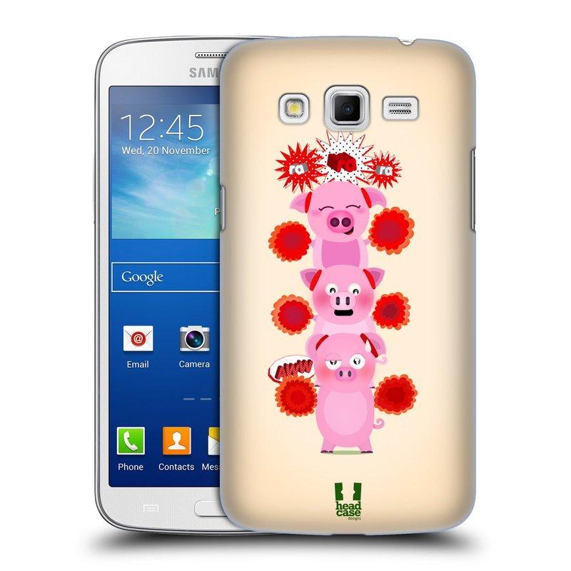 Plastové pouzdro na mobil Samsung Galaxy Grand 2 HEAD CASE Prasátka ra ra ra (Plastový kryt či obal na mobilní telefon Samsung Galaxy Grand 2 LTE SM-G7105F a Samsung Galaxy Grand 2 Duos SM-G7102F)