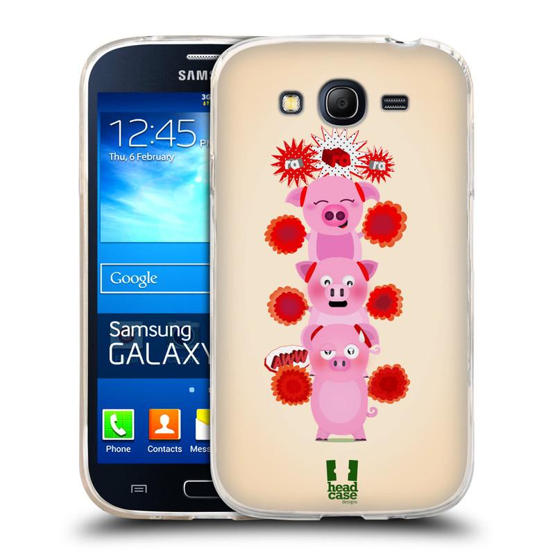 Silikonové pouzdro na mobil Samsung Galaxy Grand Neo HEAD CASE Prasátka ra ra ra (Silikonový kryt či obal na mobilní telefon Samsung Galaxy Grand Neo GT-I9060)