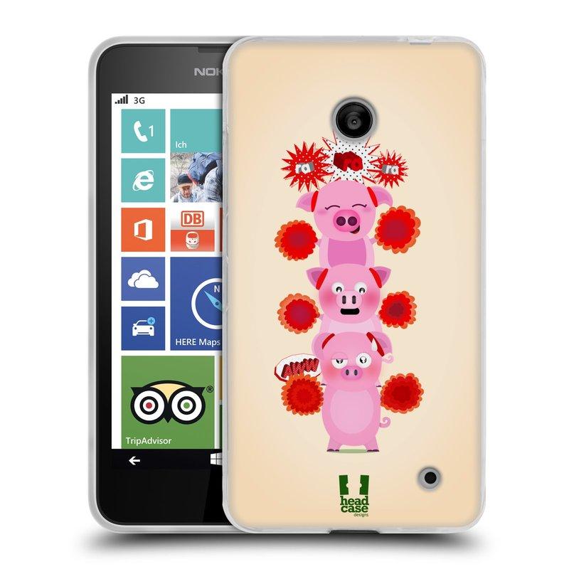 Silikonové pouzdro na mobil Nokia Lumia 635 HEAD CASE Prasátka ra ra ra (Silikonový kryt či obal na mobilní telefon Nokia Lumia 635 Dual SIM)