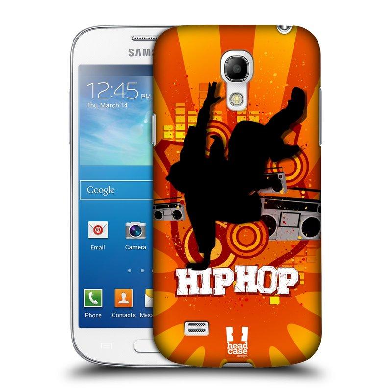 Plastové pouzdro na mobil Samsung Galaxy S4 Mini HEAD CASE HIP HOP (Kryt či obal na mobilní telefon Samsung Galaxy S4 Mini GT-i9195 / i9190 (nepasuje na verzi Black Edition))