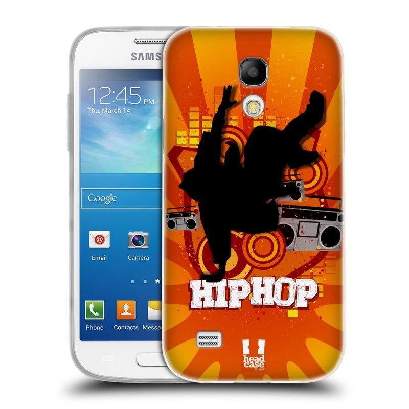 Silikonové pouzdro na mobil Samsung Galaxy S4 Mini VE HEAD CASE HIP HOP (Silikonový kryt či obal na mobilní telefon Samsung Galaxy S4 Mini VE GT-i9195i (nepasuje na verzi Black Edition))
