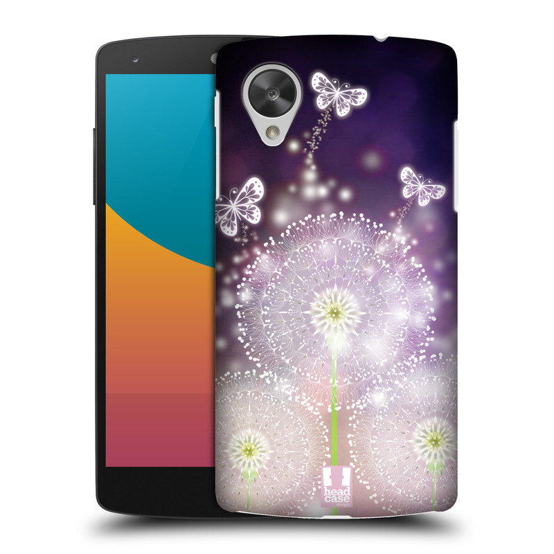 Plastové pouzdro na mobil LG Nexus 5 HEAD CASE Pampelišky a Motýlci (Kryt či obal na mobilní telefon LG Google Nexus 5 D821)