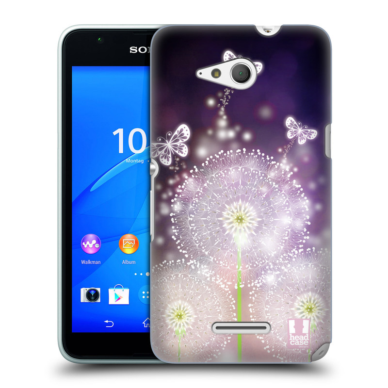 Plastové pouzdro na mobil Sony Xperia E4g E2003 HEAD CASE Pampelišky a Motýlci (Kryt či obal na mobilní telefon Sony Xperia E4g a E4g Dual SIM)