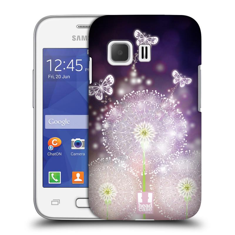 Plastové pouzdro na mobil Samsung Galaxy Young 2 HEAD CASE Pampelišky a Motýlci (Kryt či obal na mobilní telefon Samsung Galaxy Young 2 SM-G130)