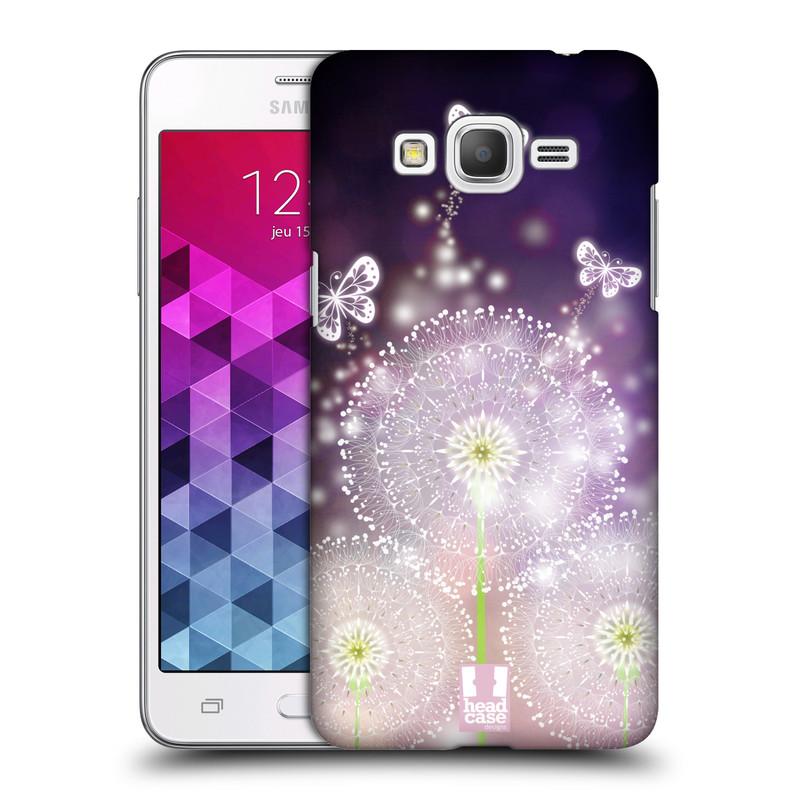 Plastové pouzdro na mobil Samsung Galaxy Grand Prime HEAD CASE Pampelišky a Motýlci (Kryt či obal na mobilní telefon Samsung Galaxy Grand Prime SM-G530)