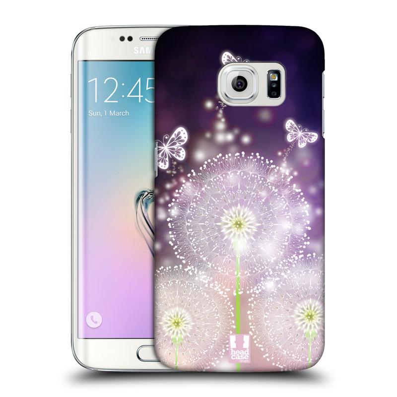 Plastové pouzdro na mobil Samsung Galaxy S6 Edge HEAD CASE Pampelišky a Motýlci (Kryt či obal na mobilní telefon Samsung Galaxy S6 Edge SM-G925F)