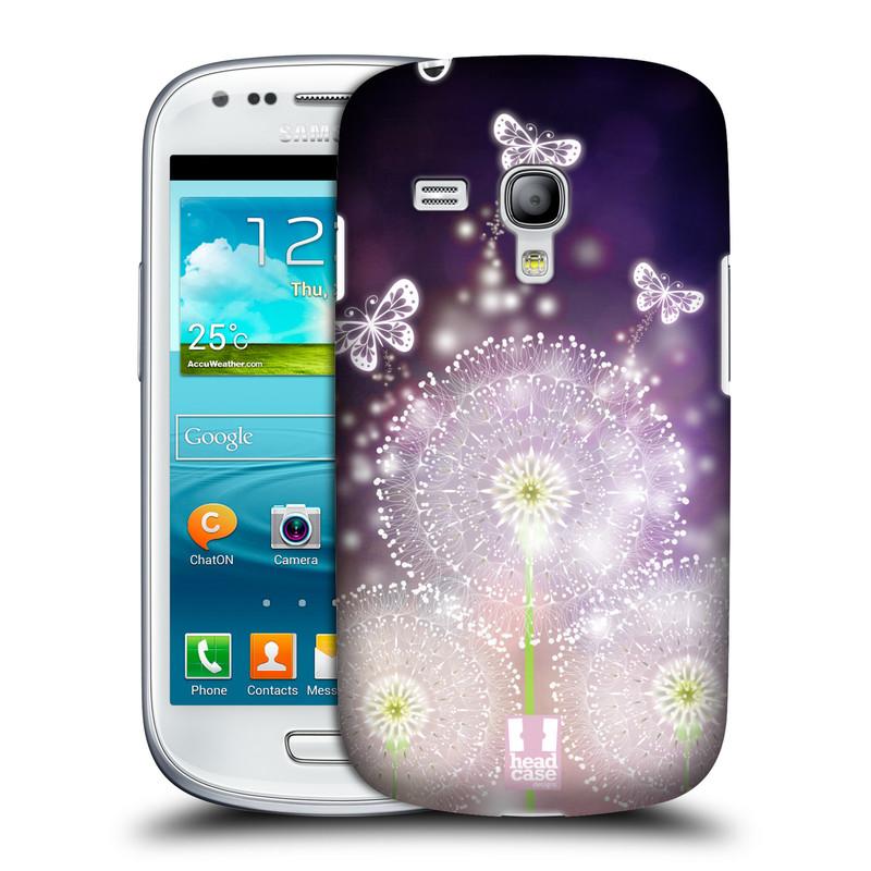 Plastové pouzdro na mobil Samsung Galaxy S III Mini HEAD CASE Pampelišky a Motýlci (Kryt či obal na mobilní telefon Samsung Galaxy S III Mini GT-i8190)