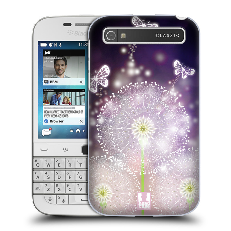 Plastové pouzdro na mobil Blackberry Classic HEAD CASE Pampelišky a Motýlci (Kryt či obal na mobilní telefon Blackberry Classic)