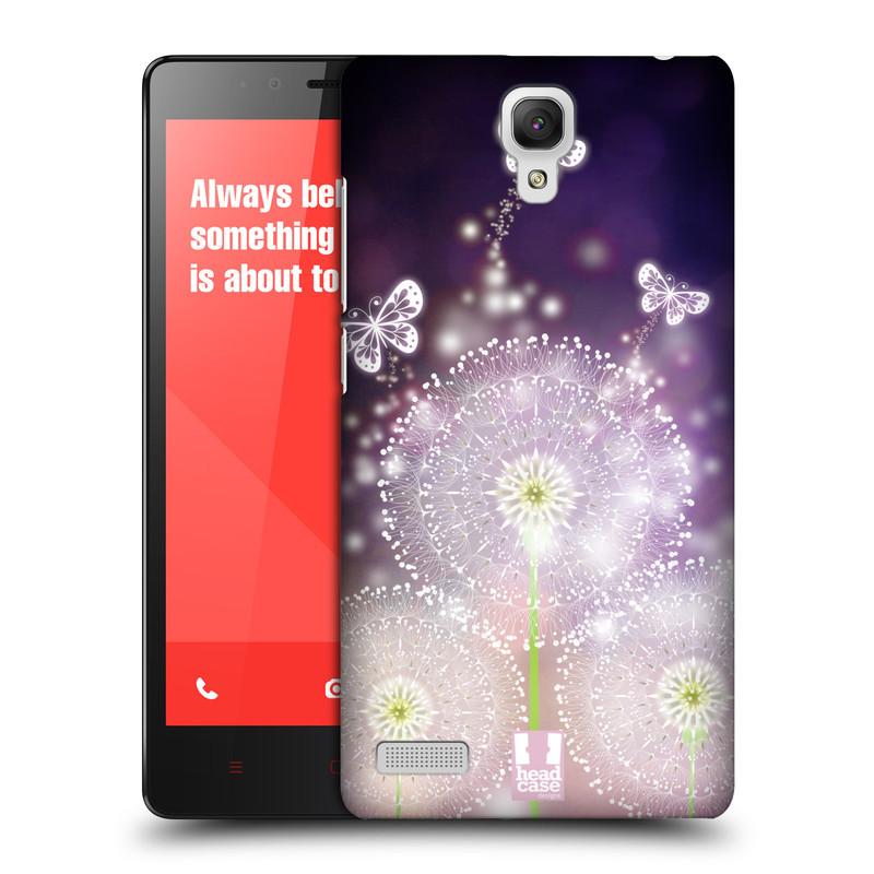 Plastové pouzdro na mobil Xiaomi Redmi Note LTE HEAD CASE Pampelišky a Motýlci (Kryt či obal na mobilní telefon Xiaomi Redmi Note LTE (4G) s 5,5'' displejem)
