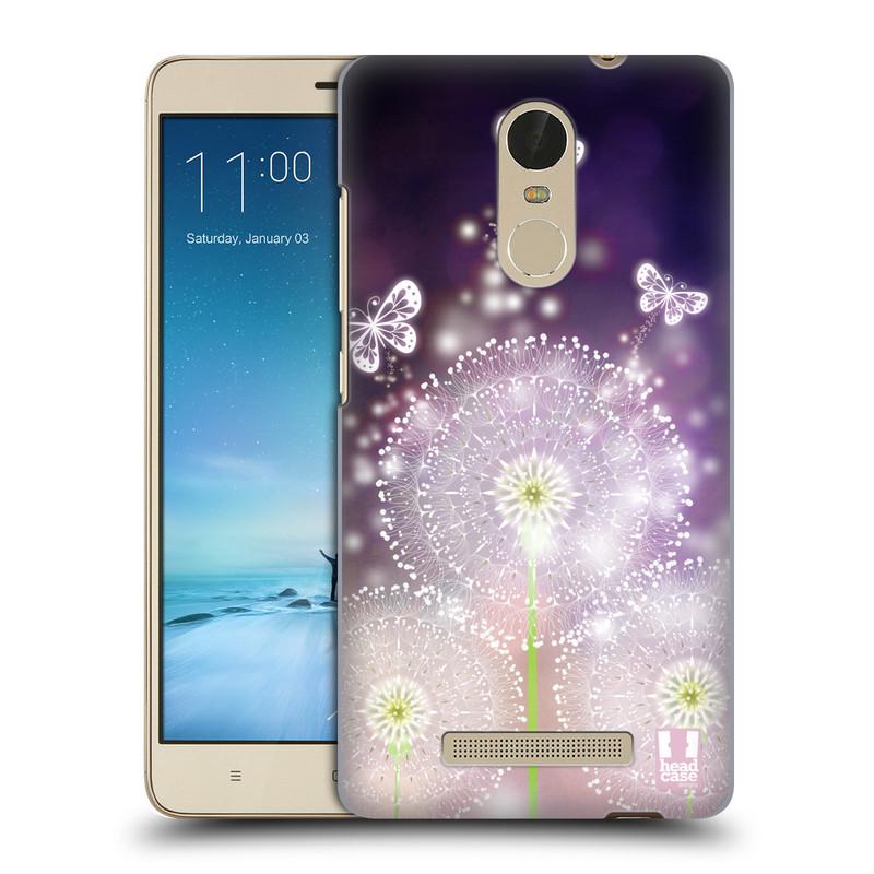 "Plastové pouzdro na mobil Xiaomi Redmi Note 3 HEAD CASE Pampelišky a Motýlci (Kryt či obal na mobilní telefon Xiaomi Redmi Note 3 s 5,5"" displejem)"