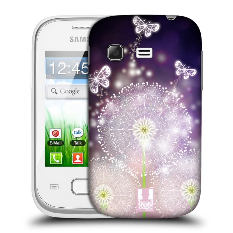 Plastové pouzdro na mobil Samsung Galaxy Pocket HEAD CASE Pampelišky a Motýlci (Kryt či obal na mobilní telefon Samsung Galaxy Pocket GT-S5300)