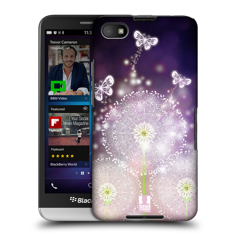 Plastové pouzdro na mobil Blackberry Z30 HEAD CASE Pampelišky a Motýlci (Kryt či obal na mobilní telefon Blackberry Z30)