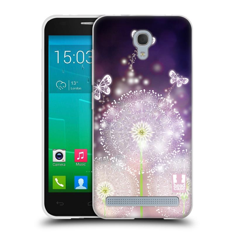 Silikonové pouzdro na mobil Alcatel One Touch Idol 2 Mini S 6036Y HEAD CASE Pampelišky a Motýlci (Silikonový kryt či obal na mobilní telefon Alcatel Idol 2 Mini S OT-6036Y)