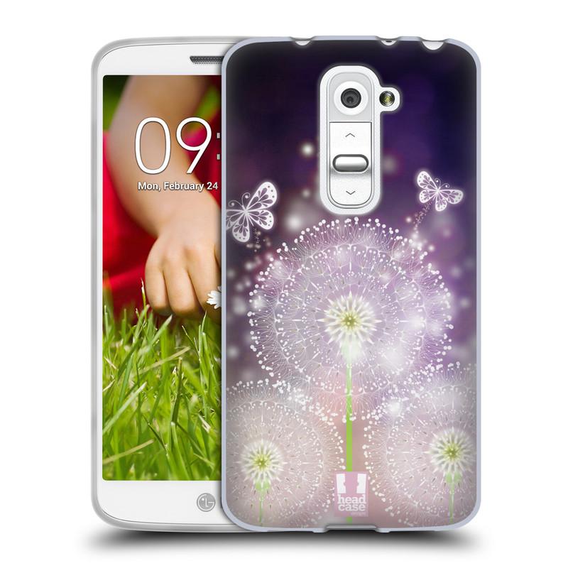 Silikonové pouzdro na mobil LG G2 Mini HEAD CASE Pampelišky a Motýlci (Silikonový kryt či obal na mobilní telefon LG G2 Mini D620)