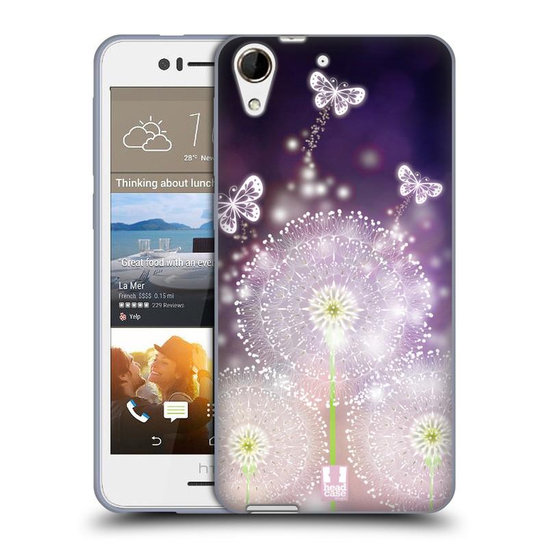 Silikonové pouzdro na mobil HTC Desire 728G Dual SIM HEAD CASE Pampelišky a Motýlci (Silikonový kryt či obal na mobilní telefon HTC Desire 728 G Dual SIM)