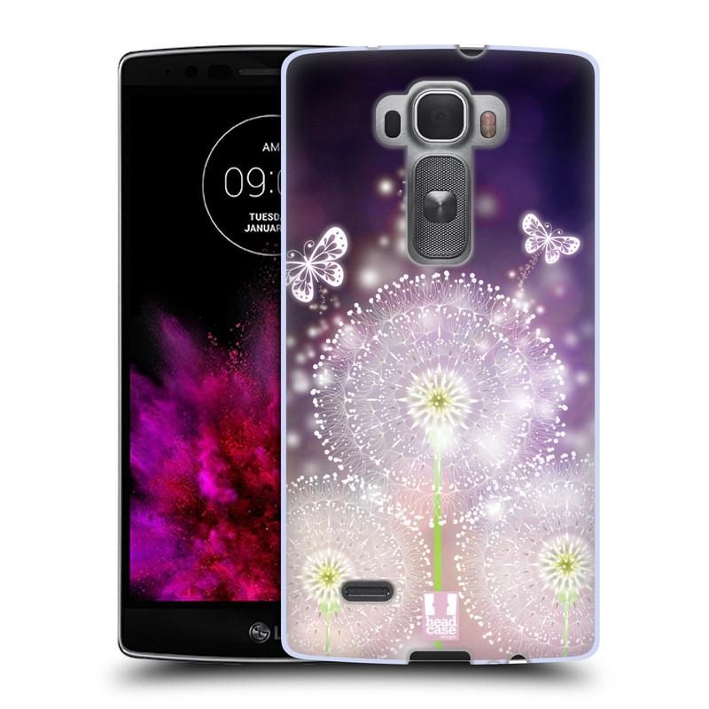Silikonové pouzdro na mobil LG G Flex 2 HEAD CASE Pampelišky a Motýlci (Silikonový kryt či obal na mobilní telefon LG G Flex 2 H955)