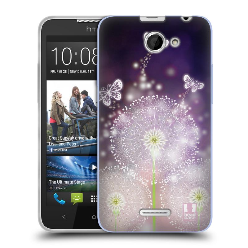 Silikonové pouzdro na mobil HTC Desire 516 HEAD CASE Pampelišky a Motýlci (Silikonový kryt či obal na mobilní telefon HTC Desire 516 Dual SIM)