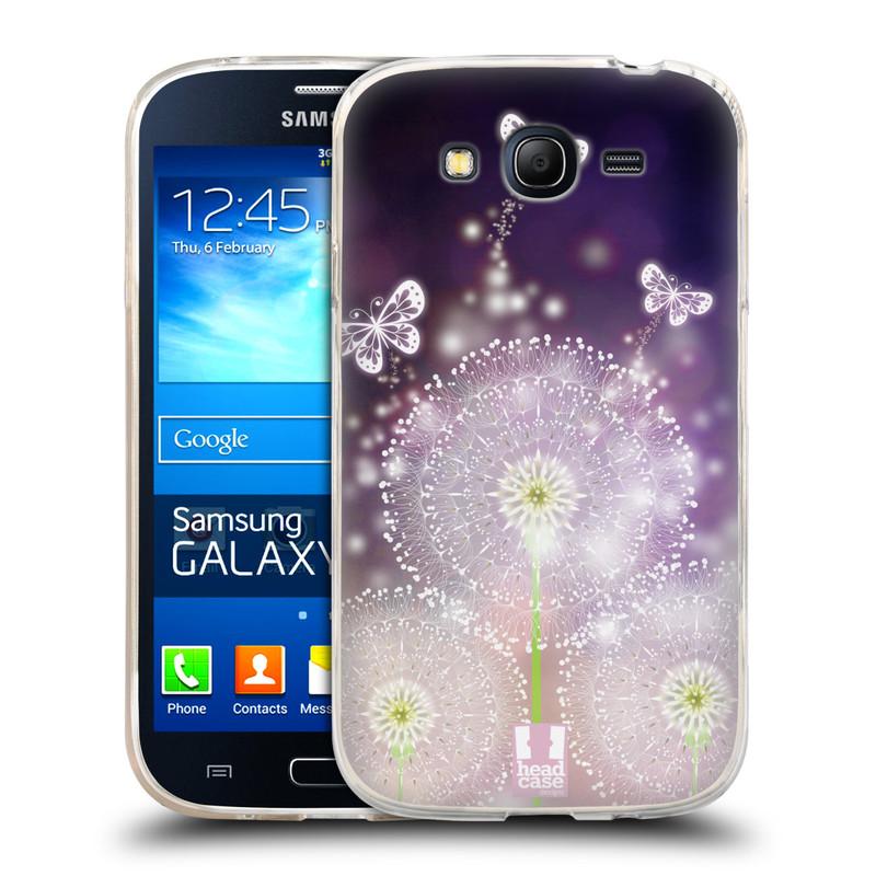 Silikonové pouzdro na mobil Samsung Galaxy Grand Neo HEAD CASE Pampelišky a Motýlci (Silikonový kryt či obal na mobilní telefon Samsung Galaxy Grand Neo GT-I9060)