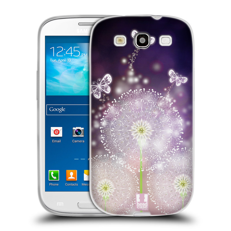 Silikonové pouzdro na mobil Samsung Galaxy S3 Neo HEAD CASE Pampelišky a Motýlci (Silikonový kryt či obal na mobilní telefon Samsung Galaxy S3 Neo GT-i9301i)