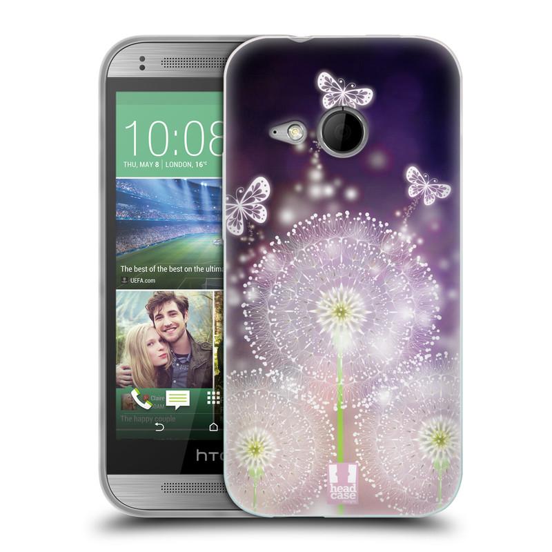 Silikonové pouzdro na mobil HTC ONE Mini 2 HEAD CASE Pampelišky a Motýlci (Silikonový kryt či obal na mobilní telefon HTC ONE Mini 2)
