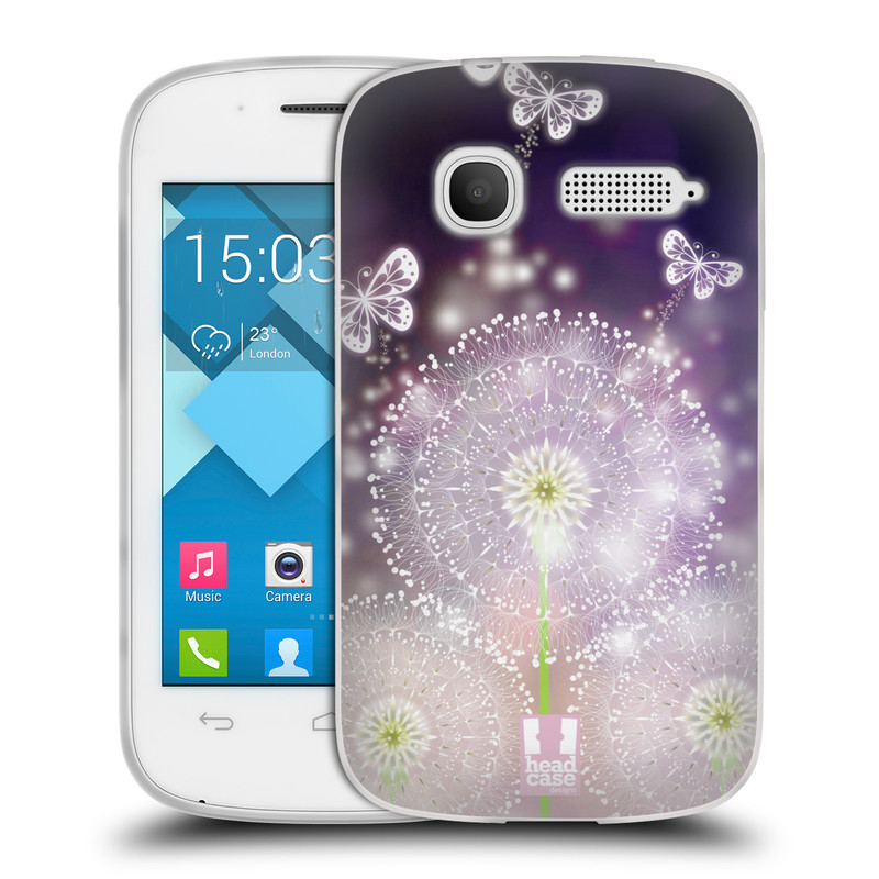 Silikonové pouzdro na mobil Alcatel One Touch Pop C1 HEAD CASE Pampelišky a Motýlci (Silikonový kryt či obal na mobilní telefon Alcatel OT-4015D POP C1)