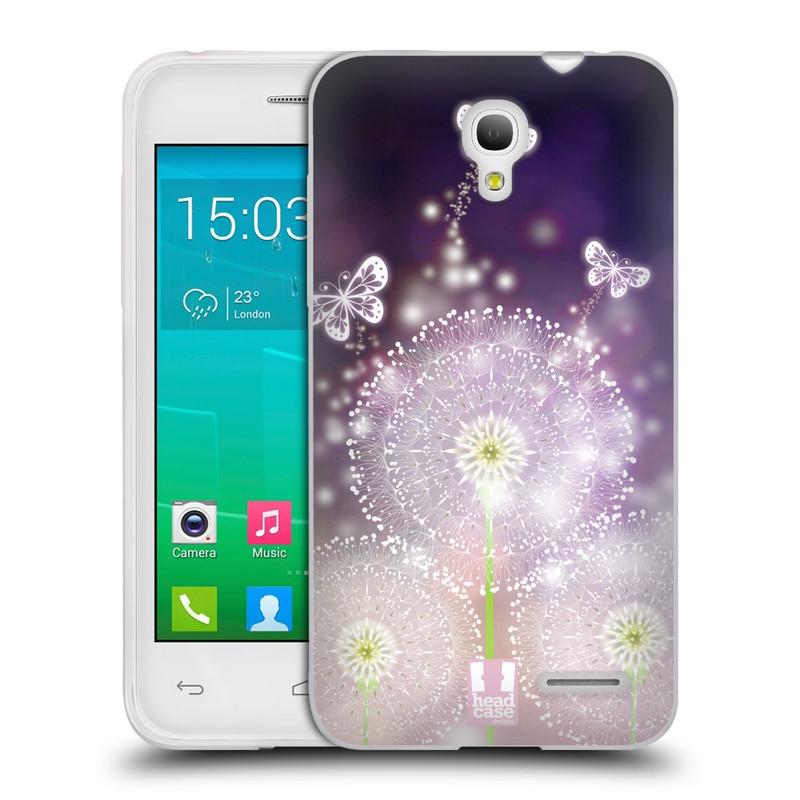 Silikonové pouzdro na mobil Alcatel One Touch Pop S3 HEAD CASE Pampelišky a Motýlci (Silikonový kryt či obal na mobilní telefon Alcatel OT- 5050Y POP S3)