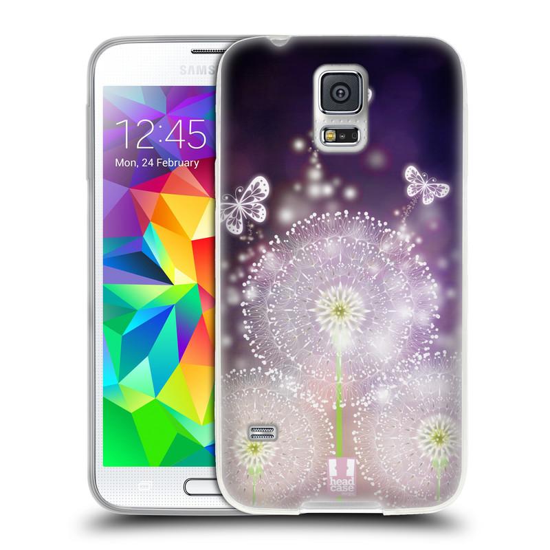 Silikonové pouzdro na mobil Samsung Galaxy S5 HEAD CASE Pampelišky a Motýlci (Silikonový kryt či obal na mobilní telefon Samsung Galaxy S5 SM-G900F)