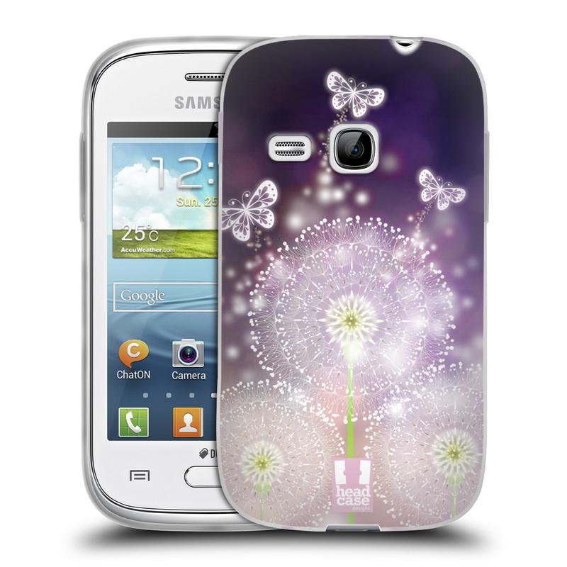Silikonové pouzdro na mobil Samsung Galaxy Young HEAD CASE Pampelišky a Motýlci (Silikonový kryt či obal na mobilní telefon Samsung Galaxy Young GT-S6310)