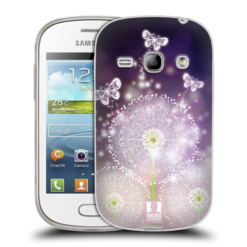 Silikonové pouzdro na mobil Samsung Galaxy Fame HEAD CASE Pampelišky a Motýlci (Silikonový kryt či obal na mobilní telefon Samsung Galaxy Fame GT-S6810)