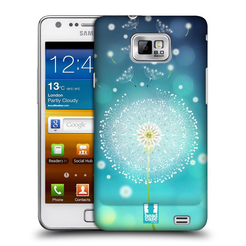 Plastové pouzdro na mobil Samsung Galaxy S II HEAD CASE Rozlétaná pampeliška (Kryt či obal na mobilní telefon Samsung Galaxy S II GT-i9100)