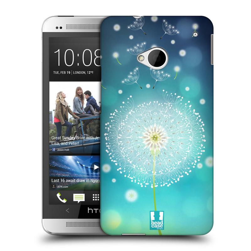 Plastové pouzdro na mobil HTC ONE M7 HEAD CASE Rozlétaná pampeliška (Kryt či obal na mobilní telefon HTC ONE M7)