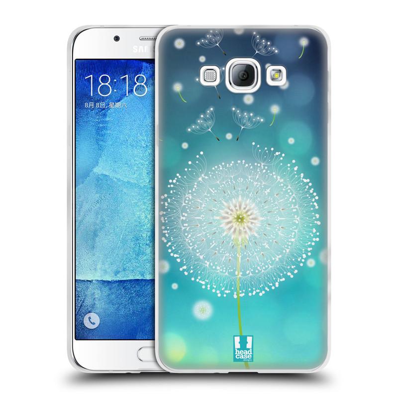 Silikonové pouzdro na mobil Samsung Galaxy A8 HEAD CASE Rozlétaná pampeliška (Silikonový kryt či obal na mobilní telefon Samsung Galaxy A8 SM-A800)