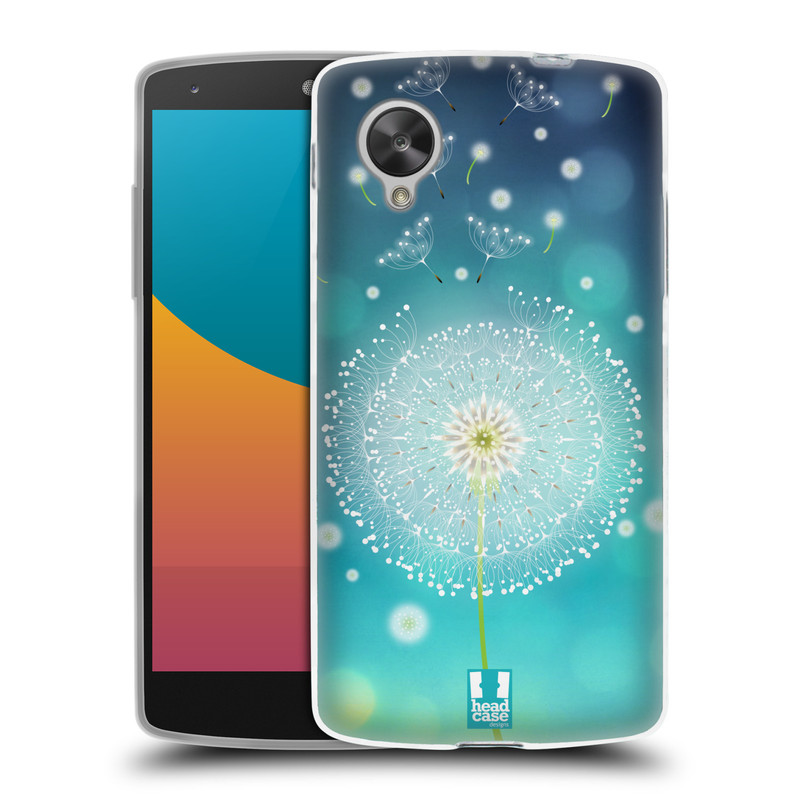 Silikonové pouzdro na mobil LG Nexus 5 HEAD CASE Rozlétaná pampeliška (Silikonový kryt či obal na mobilní telefon LG Google Nexus 5 D821)