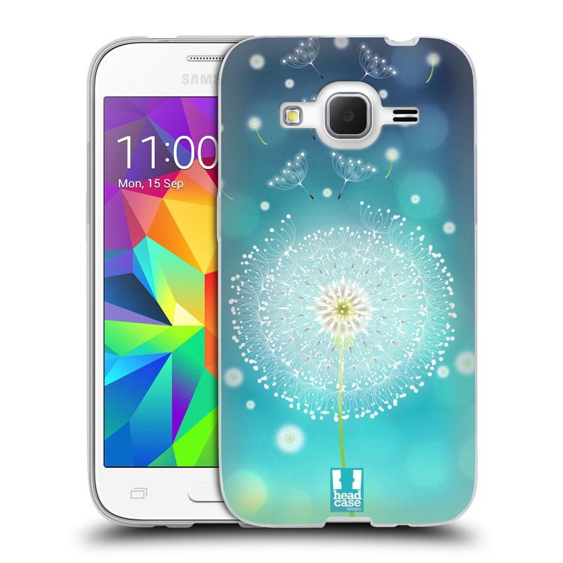 Silikonové pouzdro na mobil Samsung Galaxy Core Prime LTE HEAD CASE Rozlétaná pampeliška (Silikonový kryt či obal na mobilní telefon Samsung Galaxy Core Prime LTE SM-G360)