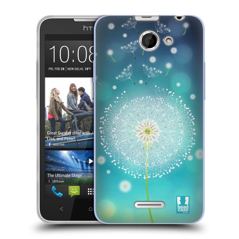 Silikonové pouzdro na mobil HTC Desire 516 HEAD CASE Rozlétaná pampeliška (Silikonový kryt či obal na mobilní telefon HTC Desire 516 Dual SIM)