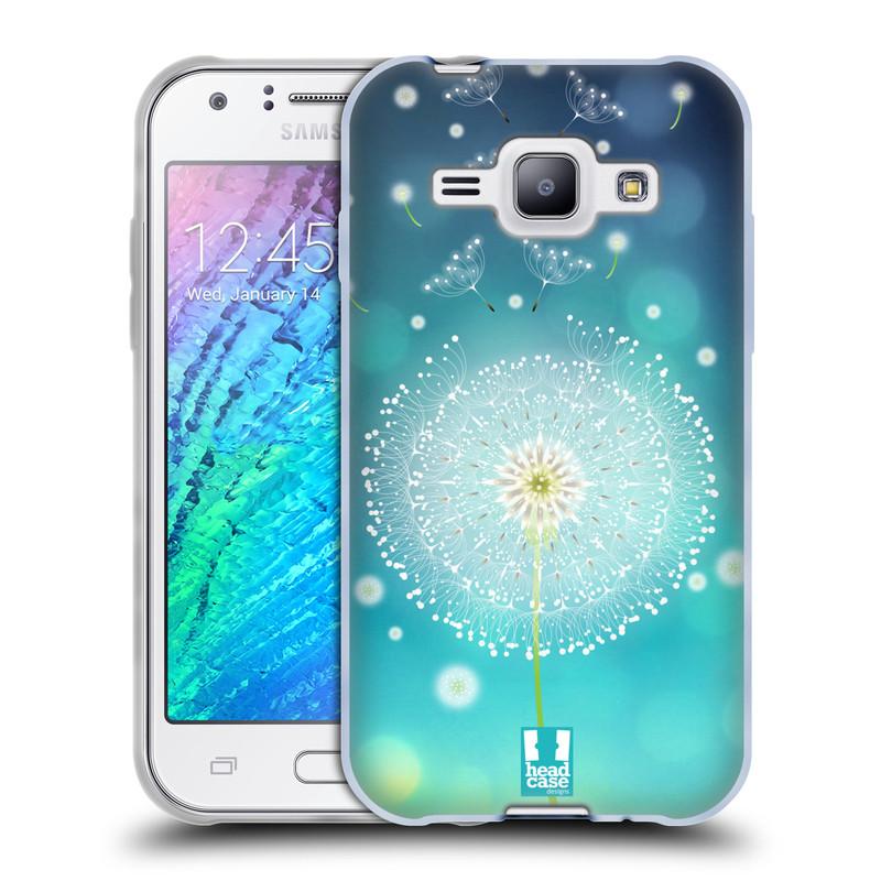 Silikonové pouzdro na mobil Samsung Galaxy J1 HEAD CASE Rozlétaná pampeliška (Silikonový kryt či obal na mobilní telefon Samsung Galaxy J1 a J1 Duos)