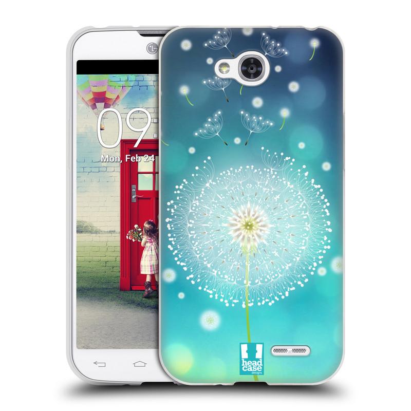 Silikonové pouzdro na mobil LG L90 HEAD CASE Rozlétaná pampeliška (Silikonový kryt či obal na mobilní telefon LG L90 D405n)