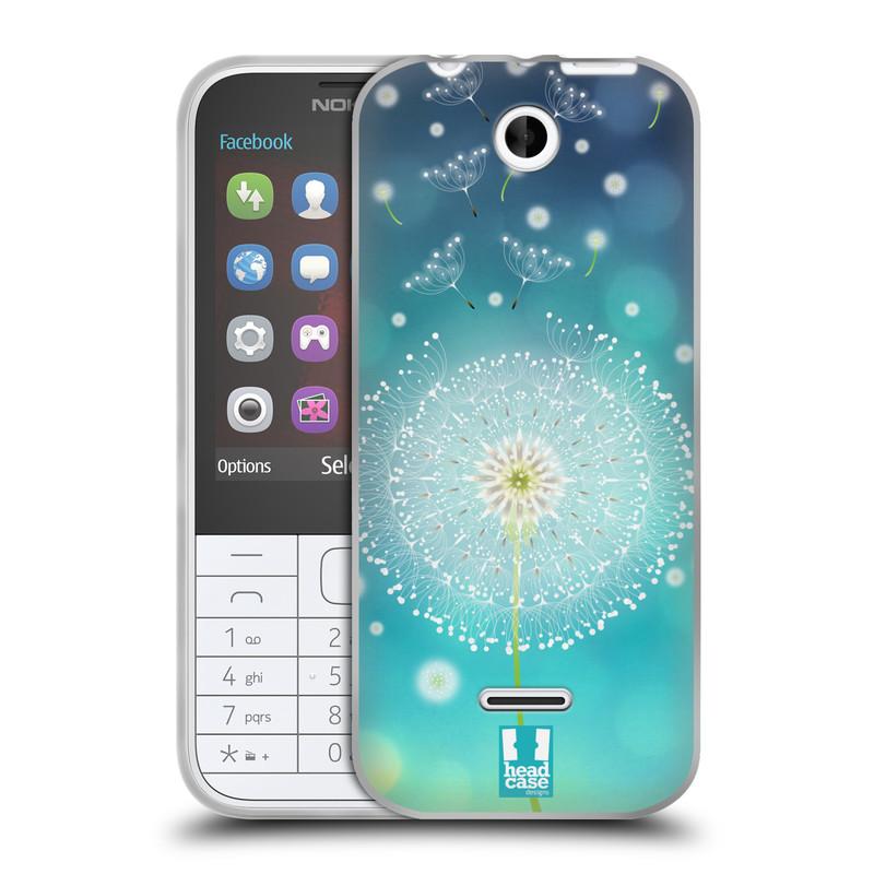 Silikonové pouzdro na mobil Nokia 225 HEAD CASE Rozlétaná pampeliška (Silikonový kryt či obal na mobilní telefon Nokia 225)