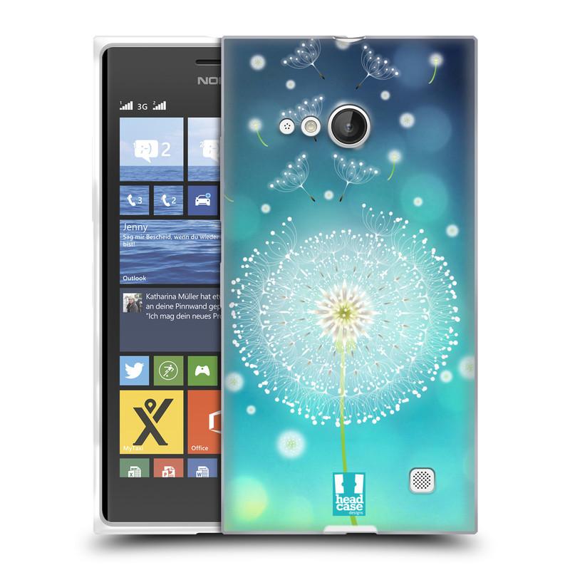 Silikonové pouzdro na mobil Nokia Lumia 730 Dual SIM HEAD CASE Rozlétaná pampeliška (Silikonový kryt či obal na mobilní telefon Nokia Lumia 730 Dual SIM)