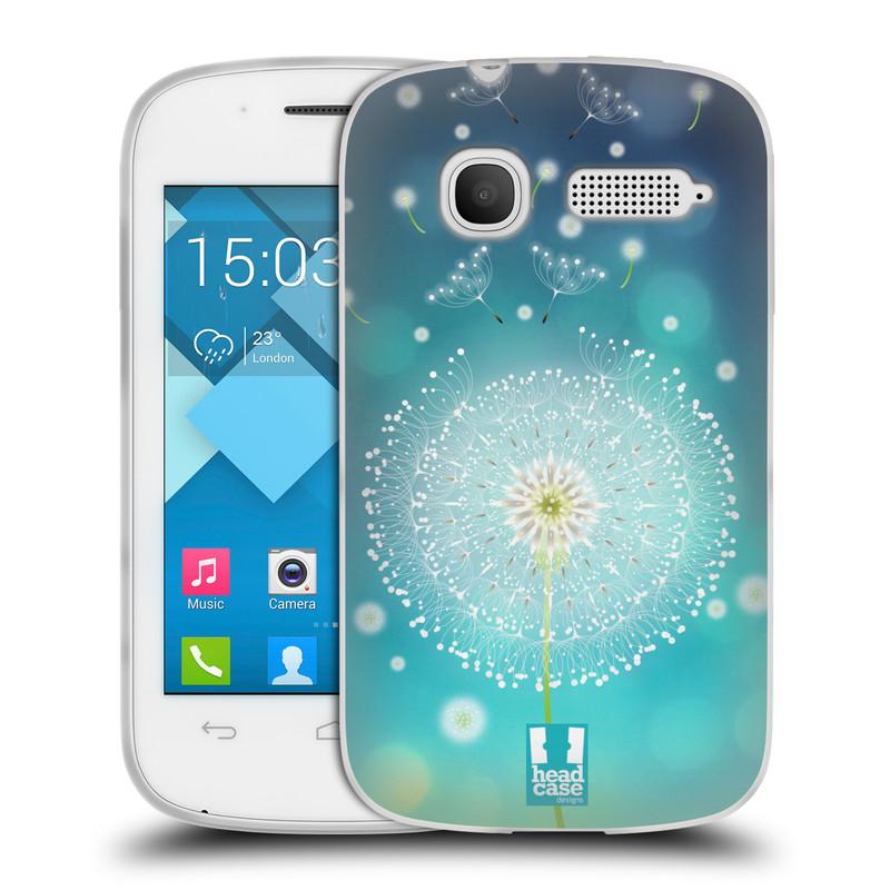 Silikonové pouzdro na mobil Alcatel One Touch Pop C1 HEAD CASE Rozlétaná pampeliška (Silikonový kryt či obal na mobilní telefon Alcatel OT-4015D POP C1)