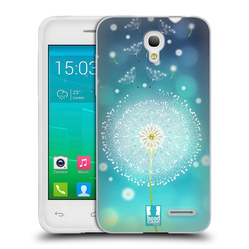 Silikonové pouzdro na mobil Alcatel One Touch Pop S3 HEAD CASE Rozlétaná pampeliška (Silikonový kryt či obal na mobilní telefon Alcatel OT- 5050Y POP S3)
