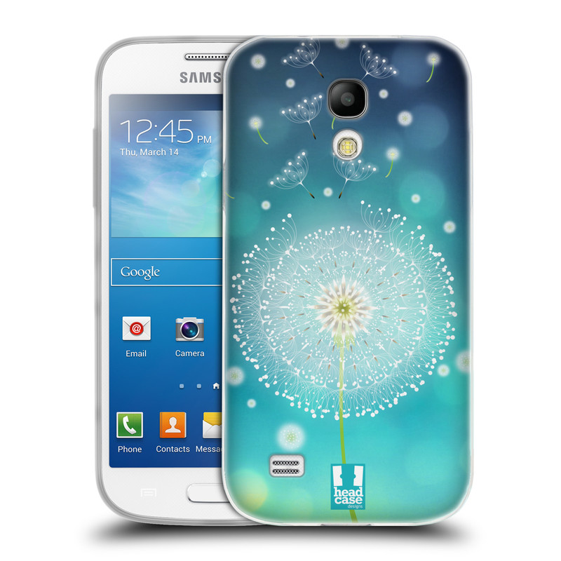 Silikonové pouzdro na mobil Samsung Galaxy S4 Mini HEAD CASE Rozlétaná pampeliška (Silikonový kryt či obal na mobilní telefon Samsung Galaxy S4 Mini GT-i9195 / i9190)