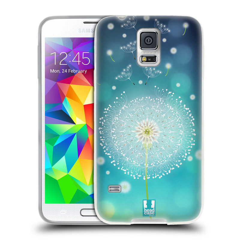 Silikonové pouzdro na mobil Samsung Galaxy S5 HEAD CASE Rozlétaná pampeliška (Silikonový kryt či obal na mobilní telefon Samsung Galaxy S5 SM-G900F)