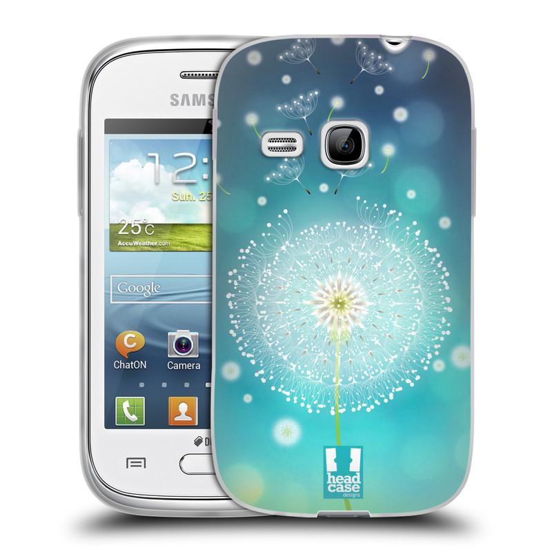 Silikonové pouzdro na mobil Samsung Galaxy Young HEAD CASE Rozlétaná pampeliška (Silikonový kryt či obal na mobilní telefon Samsung Galaxy Young GT-S6310)