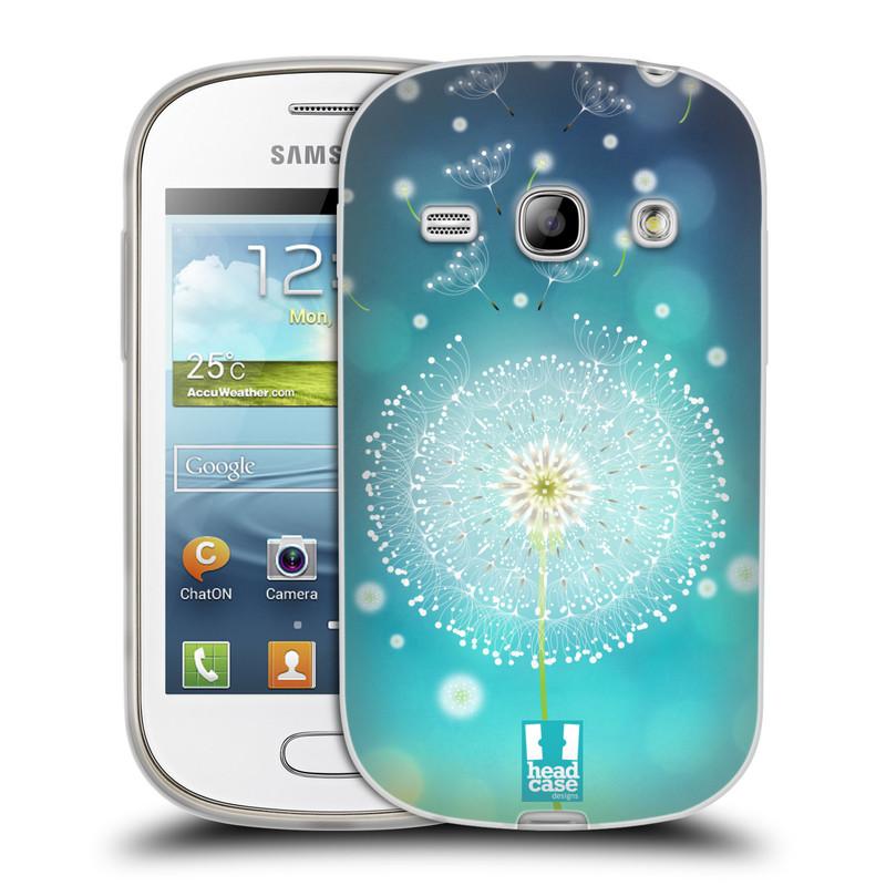 Silikonové pouzdro na mobil Samsung Galaxy Fame HEAD CASE Rozlétaná pampeliška (Silikonový kryt či obal na mobilní telefon Samsung Galaxy Fame GT-S6810)