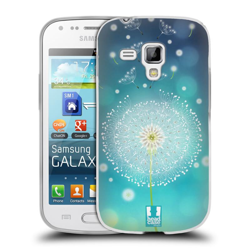 Silikonové pouzdro na mobil Samsung Galaxy Trend Plus HEAD CASE Rozlétaná pampeliška (Silikonový kryt či obal na mobilní telefon Samsung Galaxy Trend Plus GT-S7580)