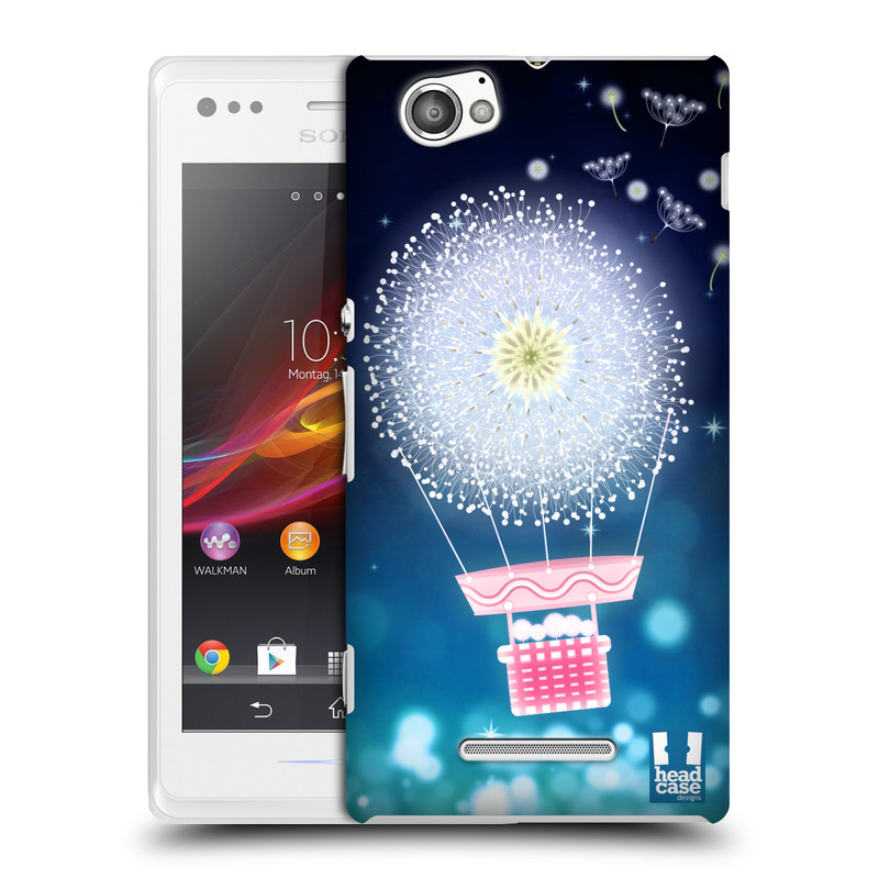 Plastové pouzdro na mobil Sony Xperia M C1905 HEAD CASE Pampeliškový balón (Kryt či obal na mobilní telefon Sony Xperia M )