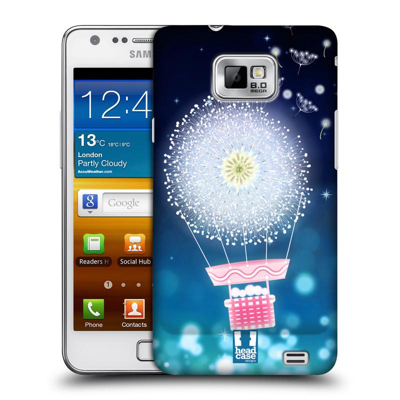Plastové pouzdro na mobil Samsung Galaxy S II HEAD CASE Pampeliškový balón (Kryt či obal na mobilní telefon Samsung Galaxy S II GT-i9100)