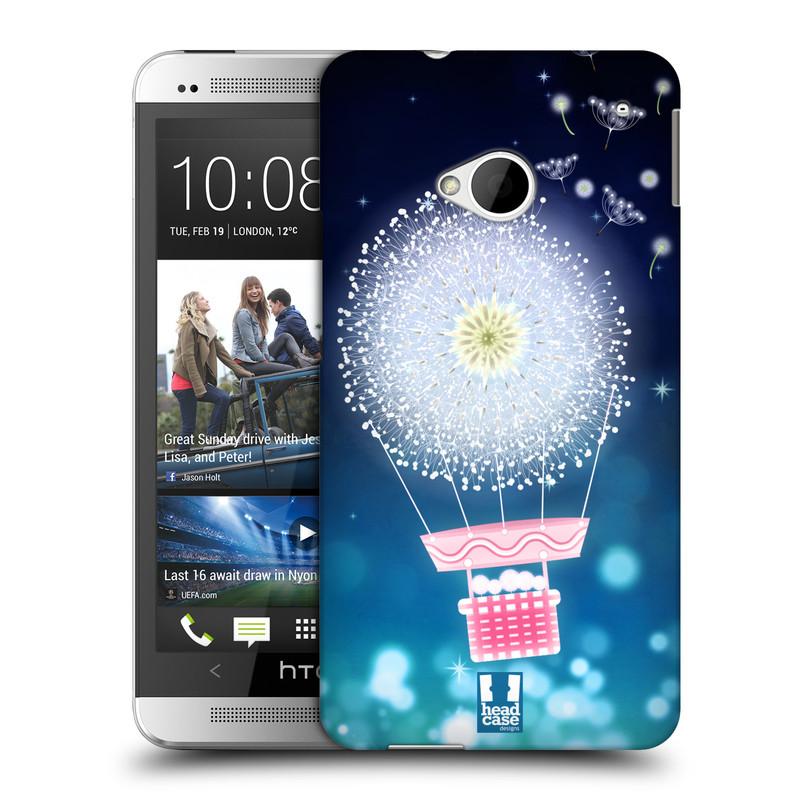 Plastové pouzdro na mobil HTC ONE M7 HEAD CASE Pampeliškový balón (Kryt či obal na mobilní telefon HTC ONE M7)